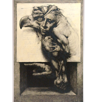 """Mutant"" de Joan Castejón. Óleo sobre papel. 1980"