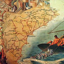 Los murales de Gastón Castelló se restauran