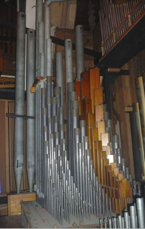 4 tubería del gran órgano