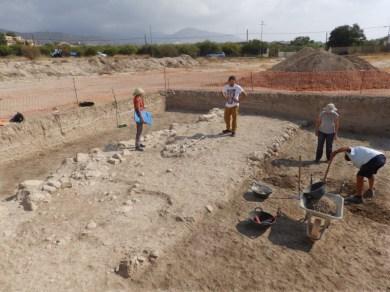 Trabajos de campo en el tramo recién descubierto.