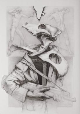 """""""Caçador furtiu"""", obra de Joan Castejón en el Kursaal."""