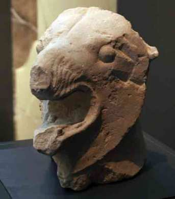 Cabeza de Grifo del siglo V. MARQ